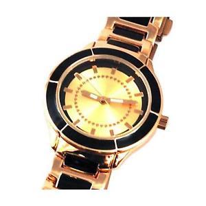 【送料無料】腕時計 ウォッチ ブロンズブラックベルトレディースブレスレットウォッチbronce y negro pulsera correa reloj de seoras 3295523