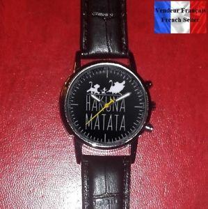【送料無料】腕時計 ウォッチ ブレスレットウォッチmontre quartz neuve bracelet cuir  watch  hakuna matata timon pumba