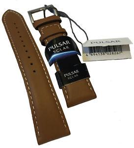 【送料無料】腕時計 ウォッチ タイミングベルトpx5059x1 nueva correa de cuero genuino de reemplazo tan pulsar 22mm