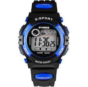 腕時計 ウォッチ スポーツクオーツアラームkids para nios chicos chicas nios cuarzo sport alarma mueca impermeable reloj de regalo
