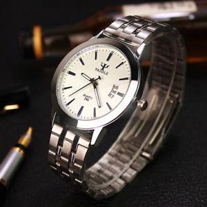 腕時計 ウォッチ クォーツビジネスステンレススチールアナログpantalla analgica de acero inoxidable reloj de hombre fecha impermeable cuarzo negocio para l