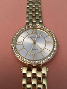 【送料無料】腕時計 ウォッチ レディースゴールドreloj de pulsera seoras gold excellanc bnwt cuarzo