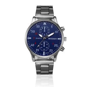 【送料無料】腕時計 ウォッチ スポーツステンレスhombres reloj deportivo plata lujo acero inoxidable