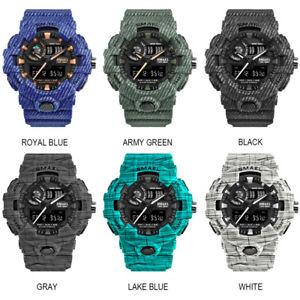 腕時計 ウォッチ スポーツウォッチデュアルスクリーンsmael nuevo hombres deporte relojes pulsera pantalla dual analogico digital