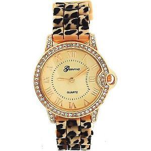 【送料無料】腕時計 ウォッチ レディースピンクベージュゴールドスタンプシリコンファッションウォッチseoras oro rosa beige estampado leopardo de silicona reloj de moda ge0642b