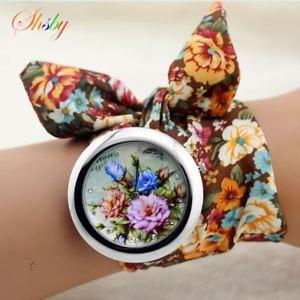 【送料無料】腕時計 ウォッチ ファッションファブリッククロックfloral mujer trapo reloj de pulsera moda mujer reloj alta calidad tela