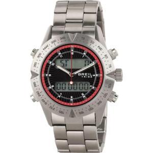 腕時計 ウォッチ クロックデジタルブラックレッドreloj de hombre breil tribe digital way ew0395 anadigit acero negro rojo