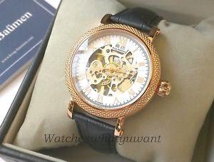 【送料無料】腕時計 ウォッチ メンズプレステージジュエルピンク¥krug baumen mens prestige mecnico 17 joya mano herida oro rosa reloj de 875