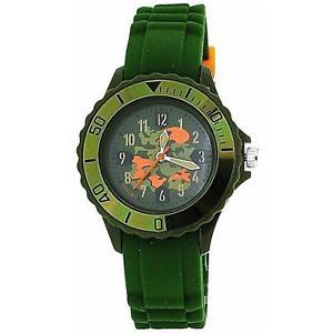 【送料無料】腕時計 ウォッチ カーキグリーンカムフラージュゴムシリコーンベルトアラームtikkers boys khaki verde camuflaje diseo de goma correa de silicona reloj tk0030