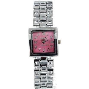 【送料無料】腕時計 ウォッチ コレクションスクエアピンクレディースアラームel olivia coleccin seoras cuadrado esfera rosa pulsera correa vestido reloj cos15