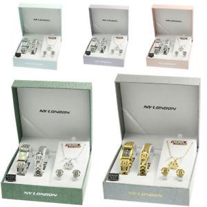 【送料無料】腕時計 ウォッチ レディースブレスレットネックレスイヤリングセットアラームseoras conjunto de regalo reloj para mujeres chicas presentes pulsera collar aretes surtidos