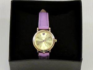 【送料無料】腕時計 ウォッチ レディースクォーツゴールドカラーパープルベルトseoras reloj regalo de color oro movimiento de cuarzo correa prpura en caja