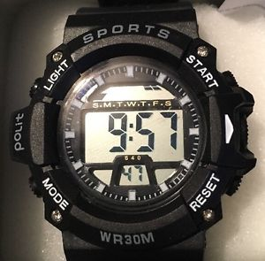 【送料無料】腕時計 ウォッチ スポーツブラックウォッチreloj deportivo ptica en negro