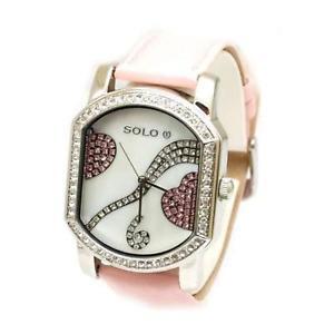 【送料無料】腕時計 ウォッチ レディースピンクストラップハートクロックsolo damas corazn rosa correa de reloj