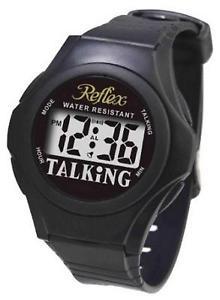 【送料無料】腕時計 ウォッチ スピーカーブラックストラップデジタルアラームreflex resistente al agua digital english parlante correa negra reloj de alarma