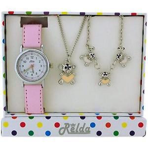 【送料無料】腕時計 ウォッチ テディベアジュエリーアラームネックレスブレスレットrelda infantil oso de peluche joyera amp; reloj, collar, brazalete
