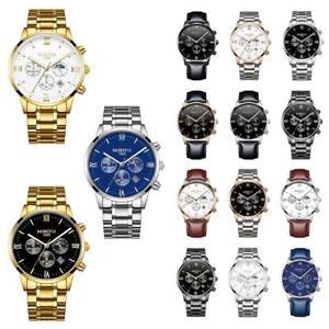 【送料無料】腕時計 ウォッチ メンズウォッチトップブランドフルスチールクロノグラフクオーツ