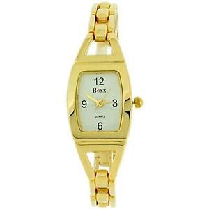 【送料無料】腕時計 ウォッチ ゴールドレディースドレストーンアラームboxx oro tono pulsera correa seoras vestido reloj 40034