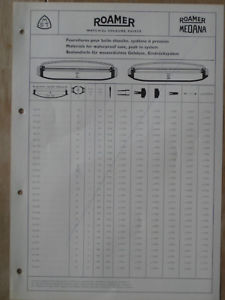 【送料無料】腕時計 ウォッチ ローマーブランドカタログページroamer medana mst catalogue 6, 1961, 4 pginas original