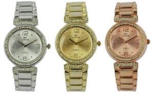 【送料無料】腕時計 ウォッチ ロンドンニューヨークメタルカラーレディースベゼルブレスレットprince londres ny damas color metal reloj con pedrera de bisel y correa 7801