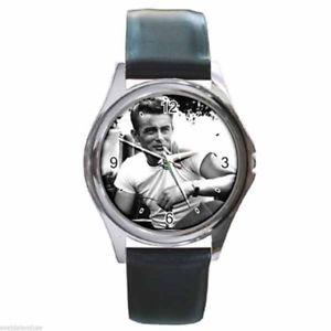 【送料無料】腕時計 ウォッチ ジェームズディーンアメリカラウンドクロックレザーベルトjames dean americas rebelde redondo plateado reloj de metal correa cuero