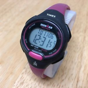 【送料無料】腕時計 ウォッチ ピンクブラックデジタルアラームストップウォッチクォーツtimex ironman mujer rosa negro alarma digital cronmetro reloj de cuarzo horas ~