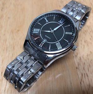 【送料無料】腕時計 ウォッチ ローマアナログsin usar longbo hombre plata negro romano analogico reloj de cuarzo horas ~