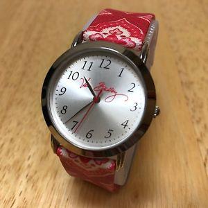 【送料無料】腕時計 ウォッチ ベラブラッドリークラシックデザインシルバーアナログvera bradley mujer clsico diseo plata rojo analogico reloj de cuarzo horas ~