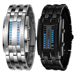 【送料無料】腕時計 ウォッチ クロックデジタルブレスレットステンレススチールファッションdigital original nuevo reloj brazalete led hombre fecha acero inoxidable moda