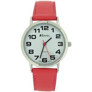 【送料無料】腕時計 ウォッチ ラヴェルピンクバックルアラームタイミングベルトravel mujer enormes esfera blanca amp; rosa pu correa con hebilla reloj r01051315