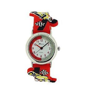 【送料無料】腕時計 ウォッチ ラヴェルレーシングラバーストラップアラームravel time teacher coche de carreras rojo reloj con correa de goma lectura
