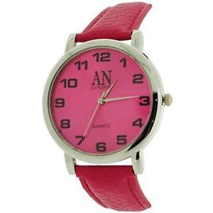 【送料無料】腕時計 ウォッチ ロンドンピンクフクシアエリアアンプポリウレタンストラップan london mujer enormes rosa fucsia esfera amp; reloj con correa de poliuretano