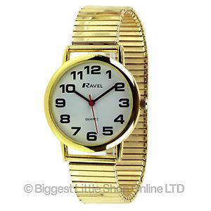 【送料無料】腕時計 ウォッチ ラヴェルマンナイツゴールドカラーベルトravel para hombre caballeros reloj de oro color expandible correa bold nmeros de gran valor