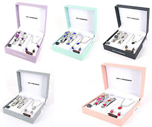 【送料無料】腕時計 ウォッチ ネックレススターリングシルバーペンダントイヤリングreloj pulsera seoras collar conjunto aretes conjunto de regalo colgante plata para mujeres chicas