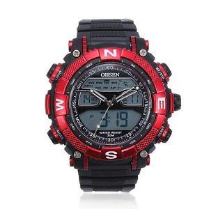 【送料無料】腕時計 ウォッチ ラウンドファッションシリコンデュアルクオーツohsen round fashion silicone dual display quartz wrist watch