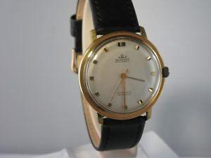 腕時計 ウォッチ ビンテージレザーアラームブレスレットj713  vintage blumus 25 rubis pulsera de cuero automatik reloj hombre