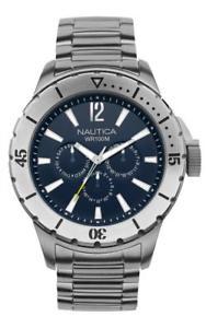 【送料無料】腕時計 ウォッチ ブルメートルorologio uomo nautica nsr 05 a19568g multifunzione bracciale acciaio blu 100mt