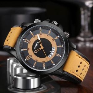 腕時計 ウォッチ ナイツクォーツcuarzo reloj para hombrecaballeros sokicuero, hardlex cristal, resistente al agua