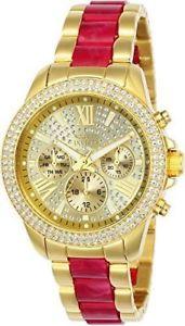 【送料無料】腕時計 ウォッチ ステンレススチールゴールドアラームnuevo anuncio24126 invicta 38mm ngel mujer acero inoxidable oro esfera dorada vd54 reloj de