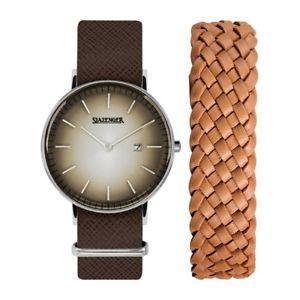 【送料無料】腕時計 ウォッチ アラームレトロボックスslazenger retro para hombre reloj sl91970102 con o sin caja 7499 16