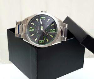 【送料無料】腕時計 ウォッチ デザイナーステンレススチールクワドラントgenuino reloj para hombre de diseador de polica acero inoxidable verde cuadrante fecha rrp 220 po99