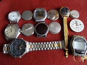 腕時計 ウォッチ オードブルサービスレストランlot anciennes montres a quartz hors services pour pices ou restauration