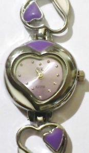 【送料無料】腕時計 ウォッチ デコクールバイオレットnuevo anunciomontre bijoux quartz dco coeur mail violet montre fond parme * 4736