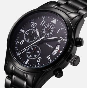 腕時計 ウォッチ クロノグラフトリビュートパイロットsinobi grande piloto 110 crongrafo 41mm aviador homenaje de cuarzo reloj negro