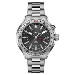 腕時計 ウォッチ アラームインテリジェントマンクオーツアナログtimex reloj hombre inteligente quartz 3gmt analogico t2p424