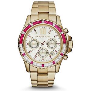 【送料無料】腕時計 ウォッチ ミハエルエベレストピンククロッククリスタルmichael kors mk5871 mujer everest color dorado rosa glitz cristal reloj de