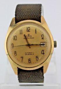 【送料無料】腕時計 ウォッチ ビンテージアンカーマスターアラームウォッチvintage maestro anclaje watch reloj pulsera automatic reloj kal cal gub 1127