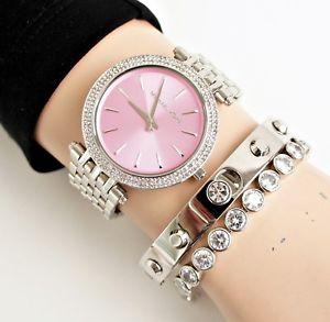 腕時計 ウォッチ オリジナルカップシルバーピンクガラスoriginal michael kors reloj fantastico mk3352 darci taza platapink cristal nuevo