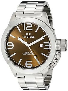 【送料無料】腕時計 ウォッチ スチールブラウンクロックtw steel cb21 marrn 45mm canteen reloj 2 aos de garanta