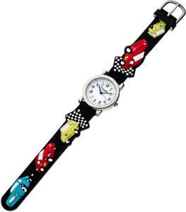 腕時計 ウォッチ アナログステンレススチールブラックシリコンeichmller reloj de nios anlogo negro acero inox silicona automuster 34977